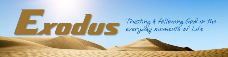 EXODUS:  Trusting & following God in the everyday moments of life.